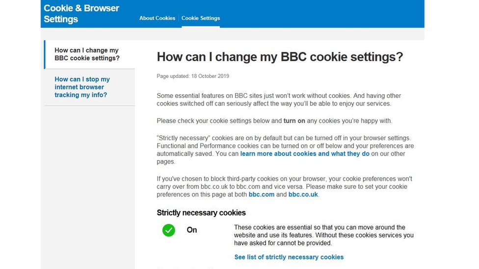 BBC Cookie Policy