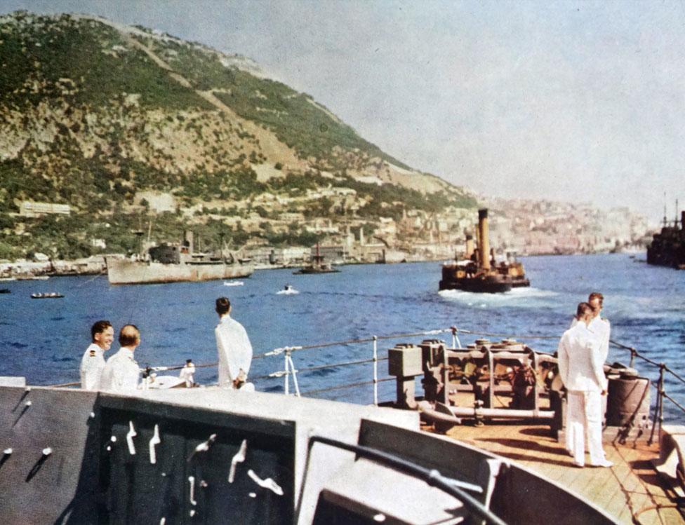 Fuerzas británicas en Gibraltar, en 1939.