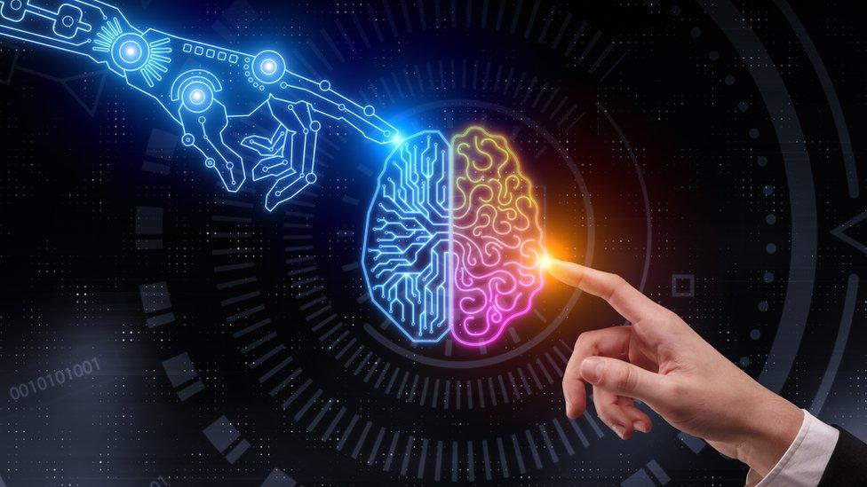 Gráfico que ilustra la competencia entre la inteligencia artificial y la humana
