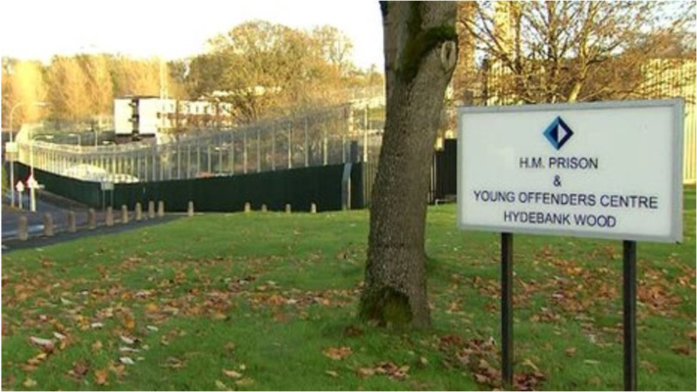 As well as female prisoners, young male offenders are also held on the same site in Hydebank Wood's secure college.