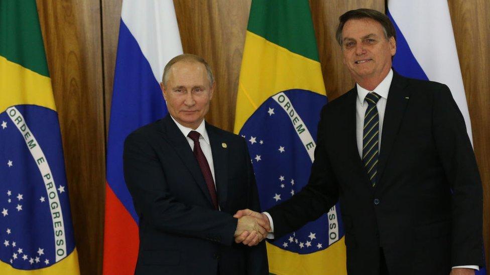 Putin y Bolsonaro