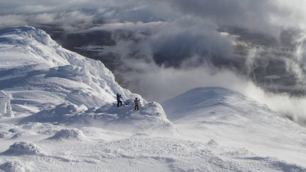 Snow in Glen Coe in winter of 2013/14