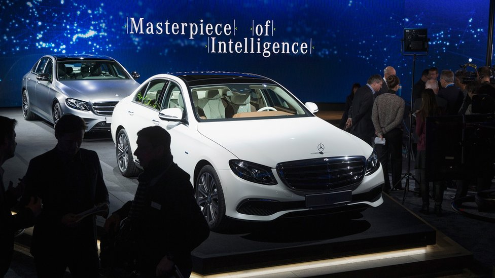 Mercedes introduces its new E-Class during a preview before the start of the North American International Auto Show