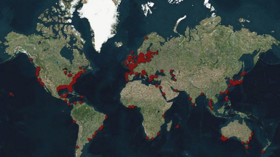 Mapa de zonas muertas