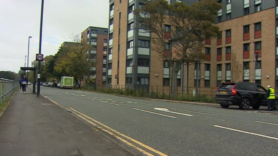 General view of student blocks on Richardson Road, Newcastle