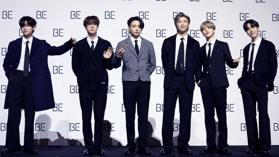 BTS launched the album with a socially distanced press conference in Seoul
