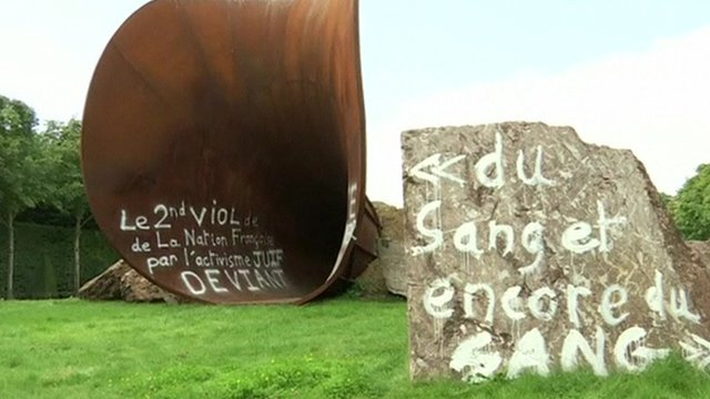 Vandalised Sir Anish Kapoor sculpture in France