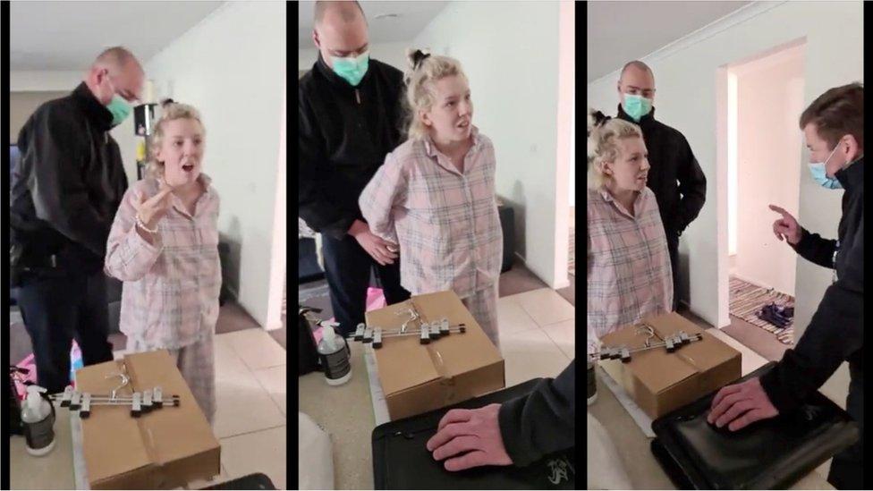 Covid: Australian anti-lockdown suspect's arrest draws controversy thumbnail