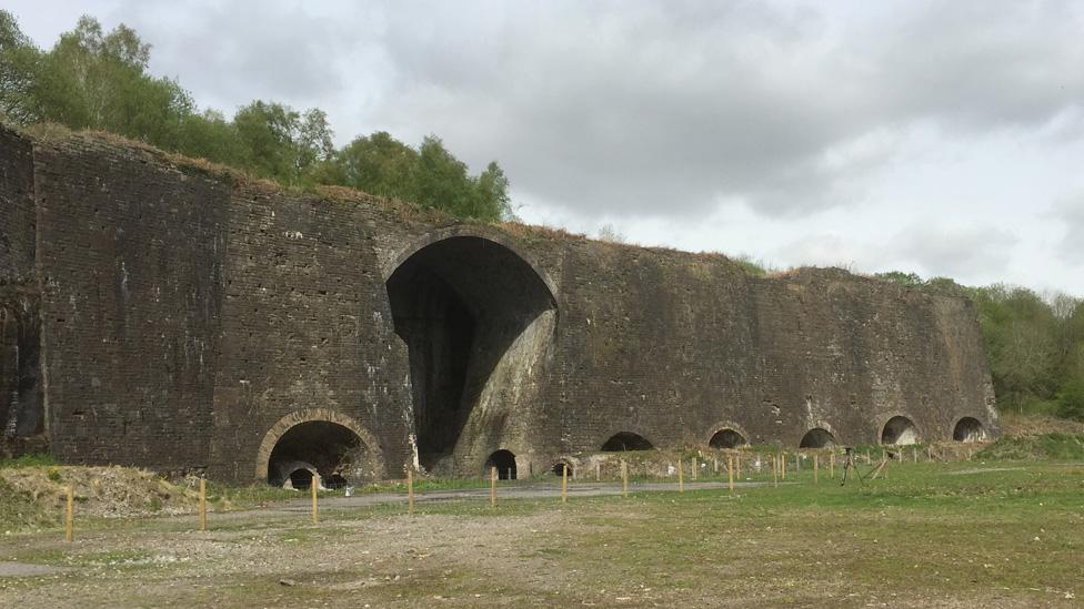 The Crawshay furnaces