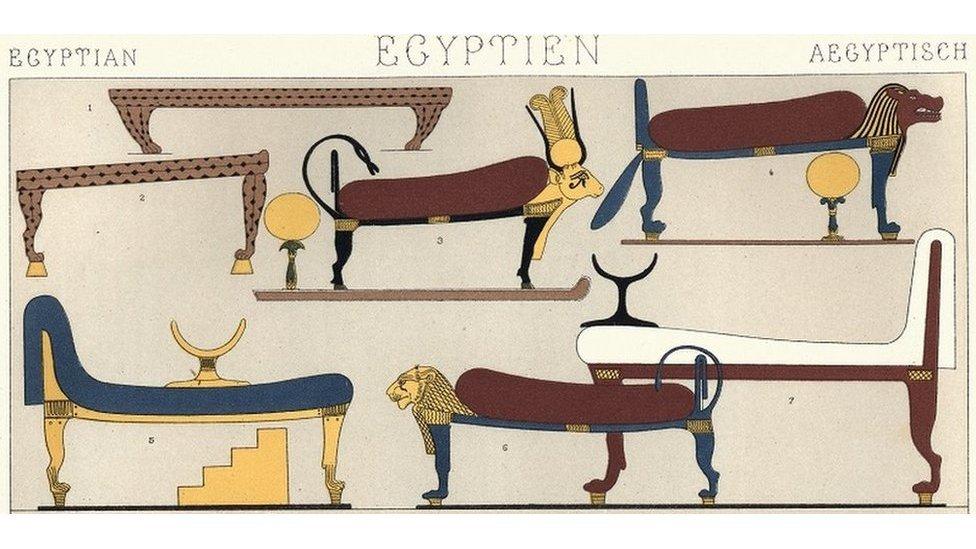 Crteži starih egipatskih kreveta