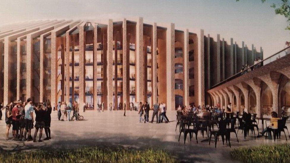 Artists impression of the new Stamford Bridge stadium