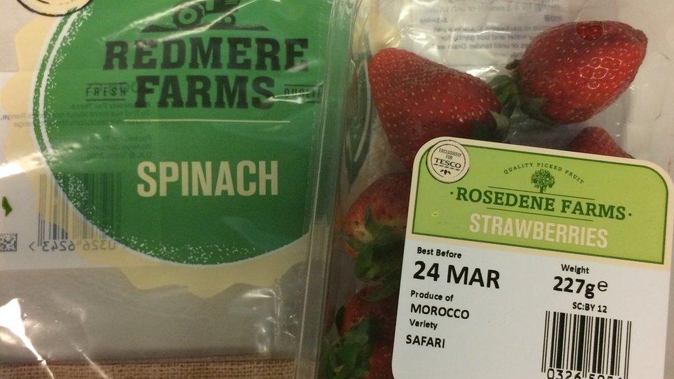 Tesco farm label