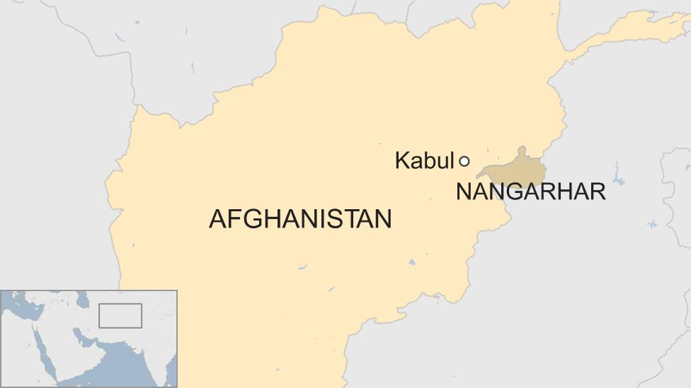 Afghanistan map showing Nangarhar