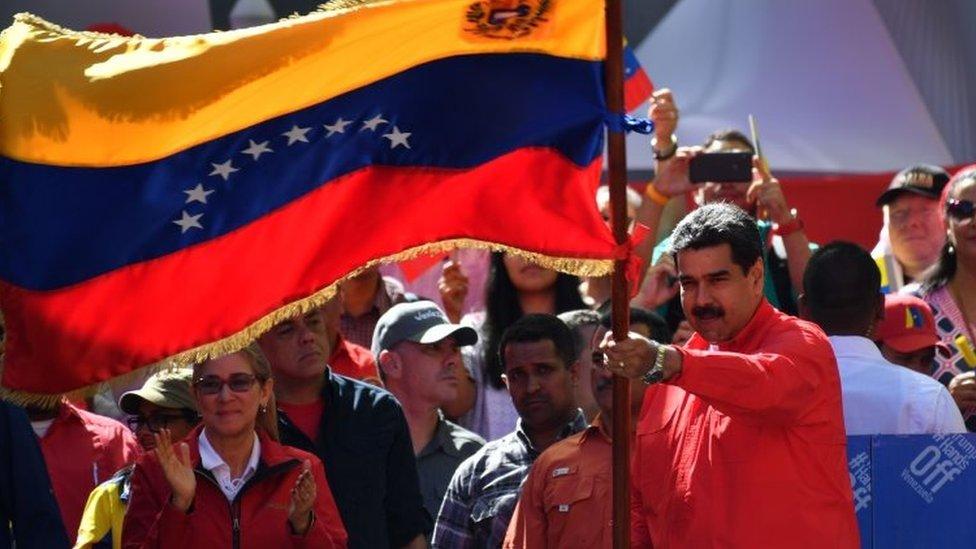 """NO USAR/ BBC Maduro realizó un acto el sábado en Caracas, donde celebró el haber derrotado el """"golpe de Estado"""""""