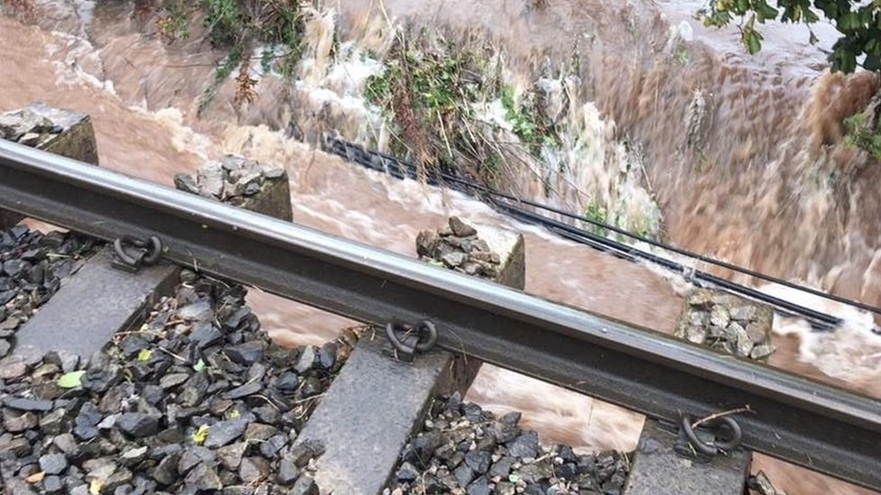 Track at Pontrilas was washed away by flooding