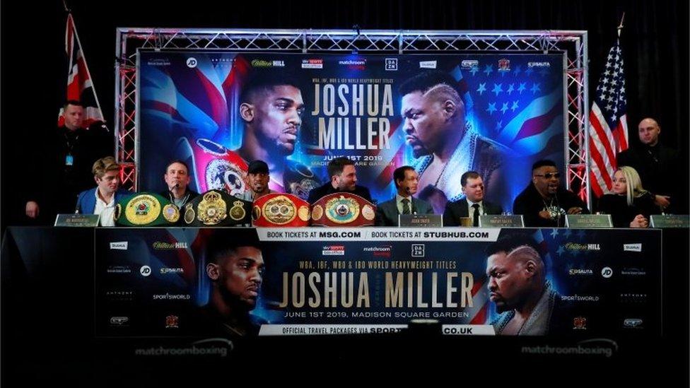 Conferencia de prensa de Joshua vs. Miller