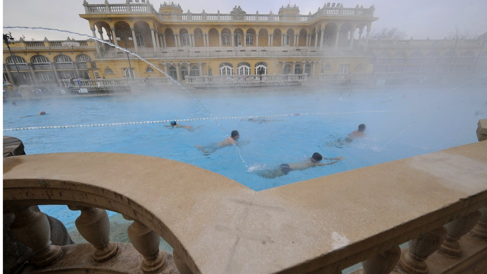 The Szechenyi Thermal Bath in Budapest