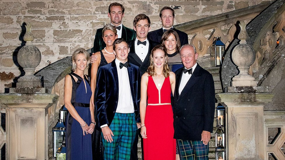 The Duke of Roxburghe with his family