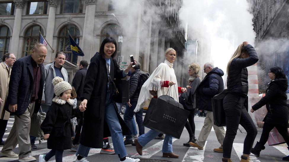 Šetači u Njujorku