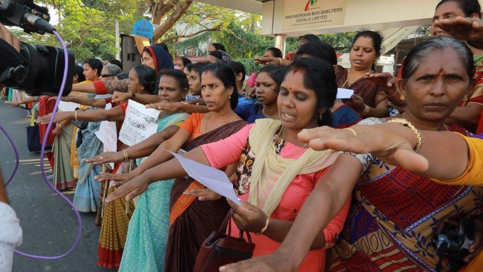 Women's wall in Kerala