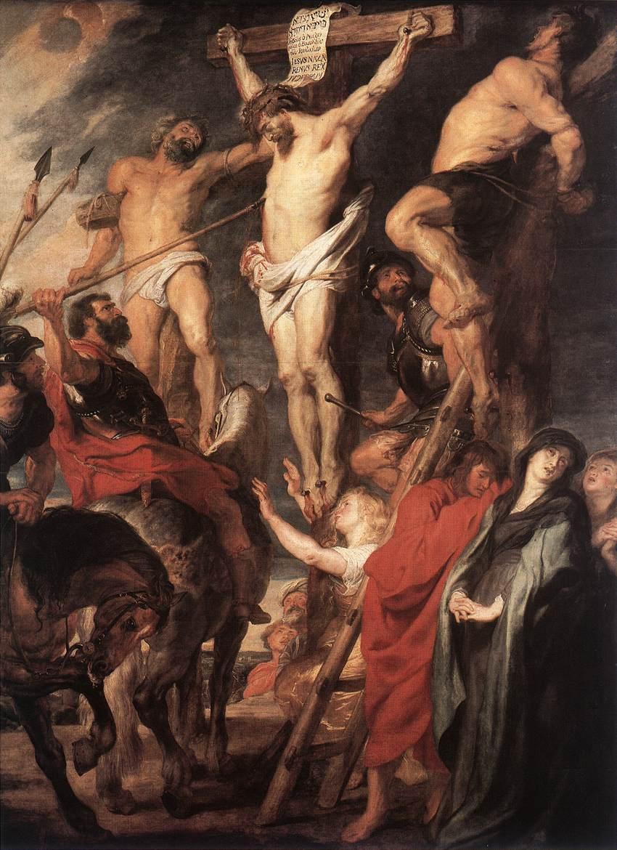 Cristo en la cruz entre los dos ladrones (1619-20) - Rubens.
