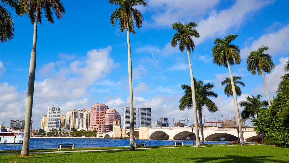 A view in the direction of Riviera Beach in Florida