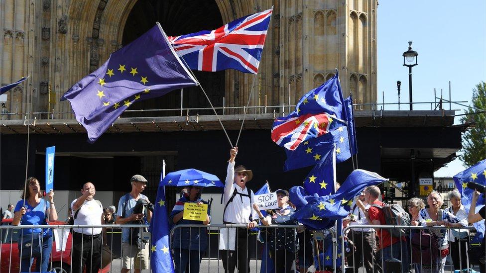 بريطانيون يتظاهرون تنديدا بقرار تعليق البرلمان