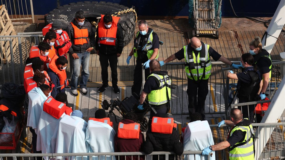 This group was brought onto the quayside from HMC Seeker