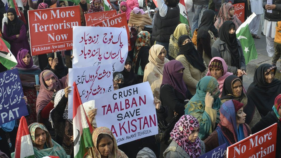 The country saw anti-Taliban protests after the Peshawar school attack of 2014