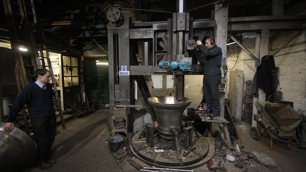 Bells being made