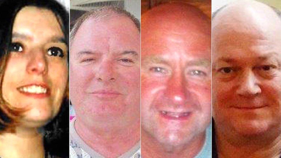 Sarah Darnley, Gary McCrossan, Duncan Munro and George Allison