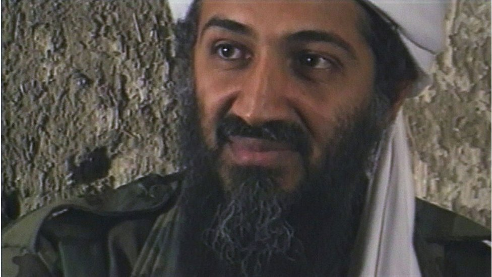 "Osama Bin Laden, the Saudi millionaire and fugitive leader of the terrorist group al Qaeda, explains why he has declared a ""jihad"" or holy war against the United States on August 20, 1998 from a cave hideout somewhere in Afghanistan."
