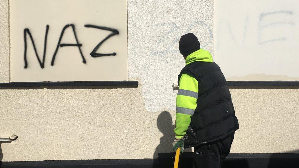 Cheltenham man arrested over Cardiff far-right graffiti