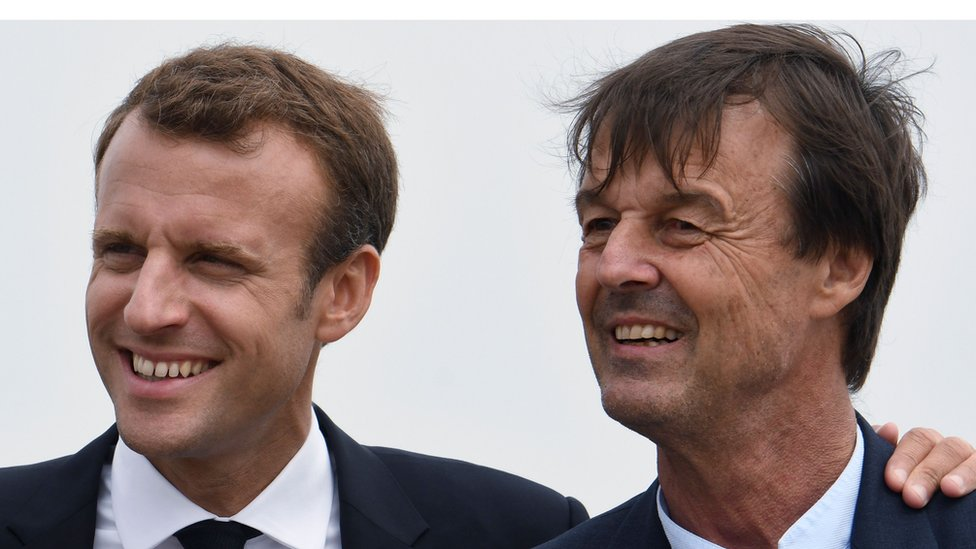 Emmanuel Macron and Nicolas Hulot - 20 June