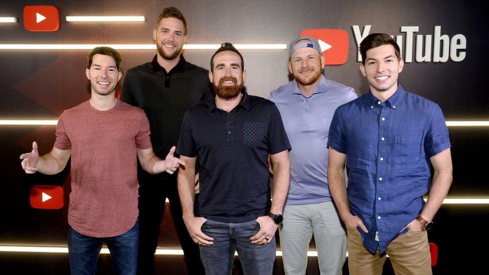 Los cinco amigos de Dude Perfect
