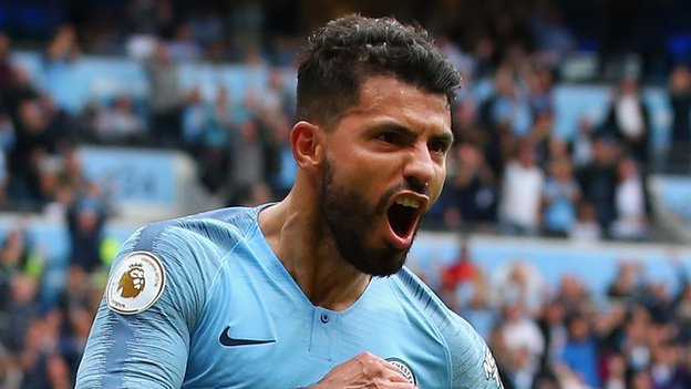 Aguero scores a hat-trick as Man City thrash Huddersfield