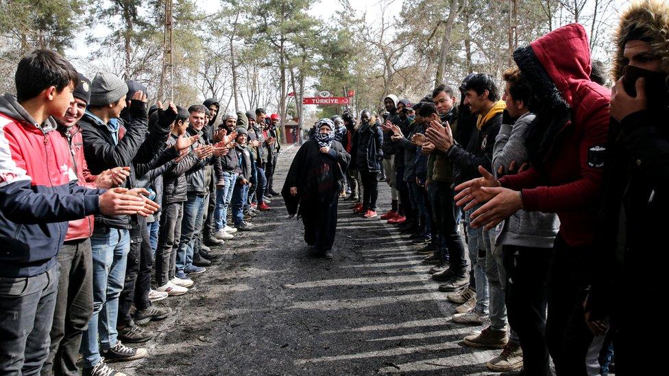 Edirne'deki Pazarkule Sınır Kapısı (Türkiye)