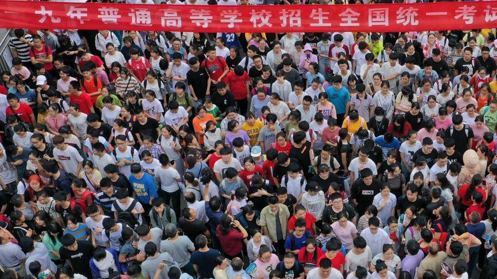 Çin'de üniversite sınavı