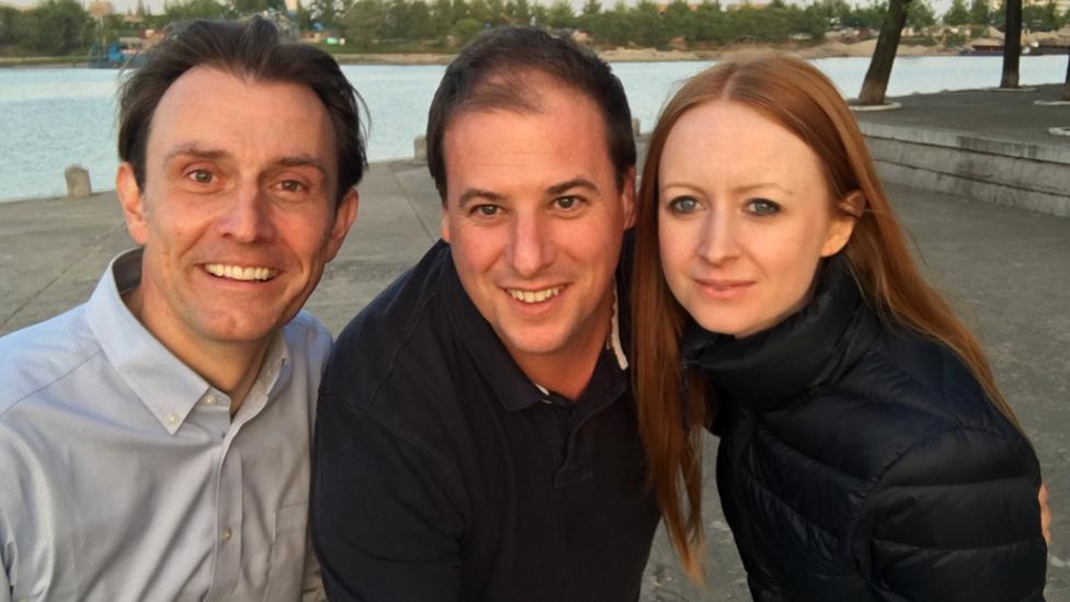 Rupert Wingfield-Hayes, Matthew Goddard and Maria Byrne