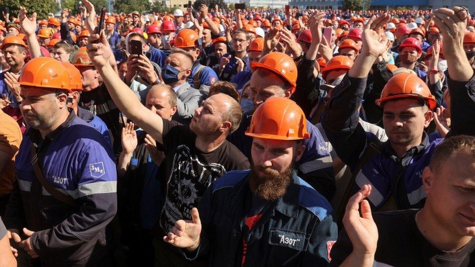 Ovi radnici kompanije Azot u Grodnu pridružili su se protestima u petak