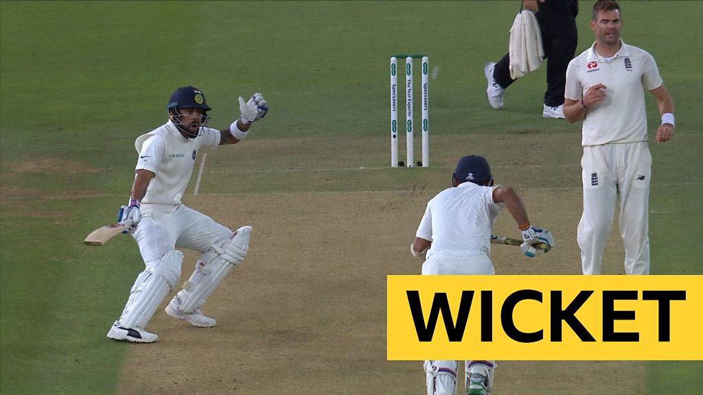 England v India: Cheteshwar Pujara run out after mix-up with Virat Kohli