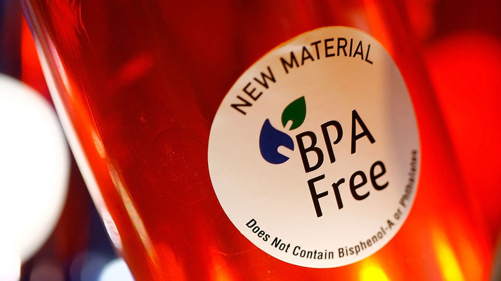 Un producto que se anuncia libre de BPA