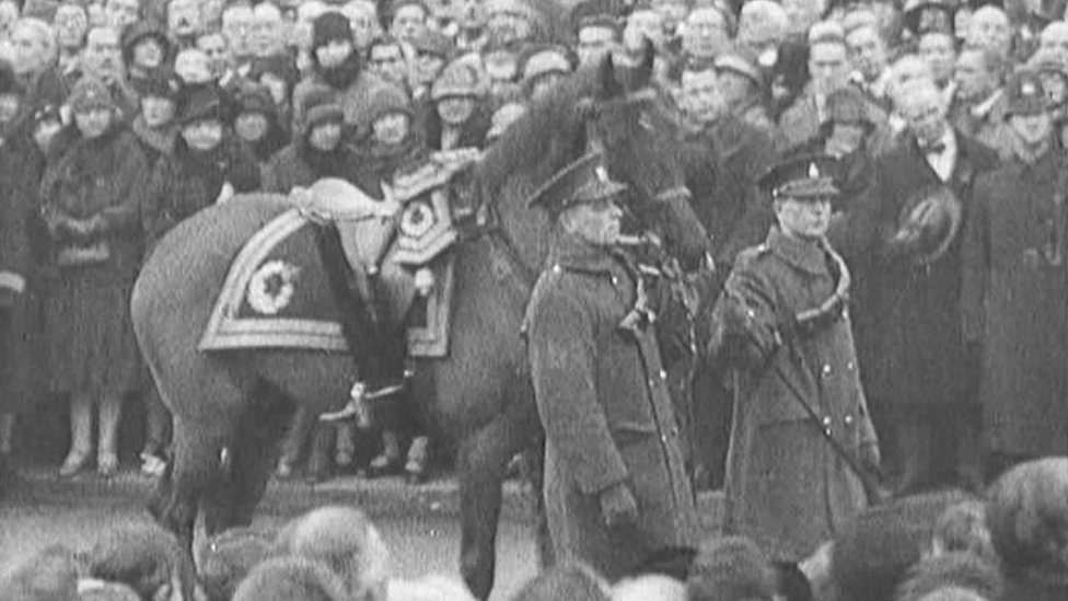 Earl Haig's funeral procession