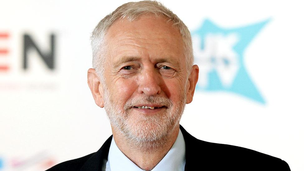 Jeremy Corbyn after his speech at the Edinburgh TV Festival