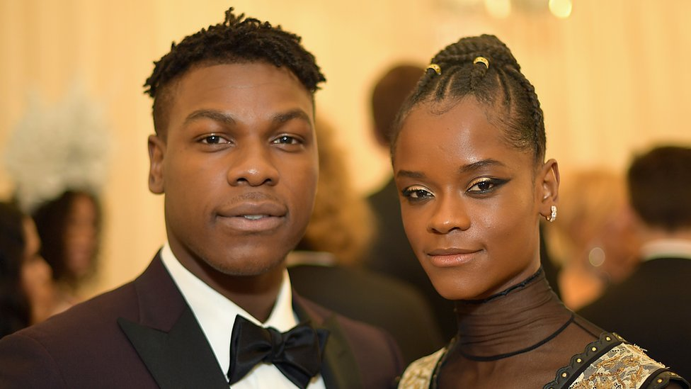 John Boyega and Letitia Wright