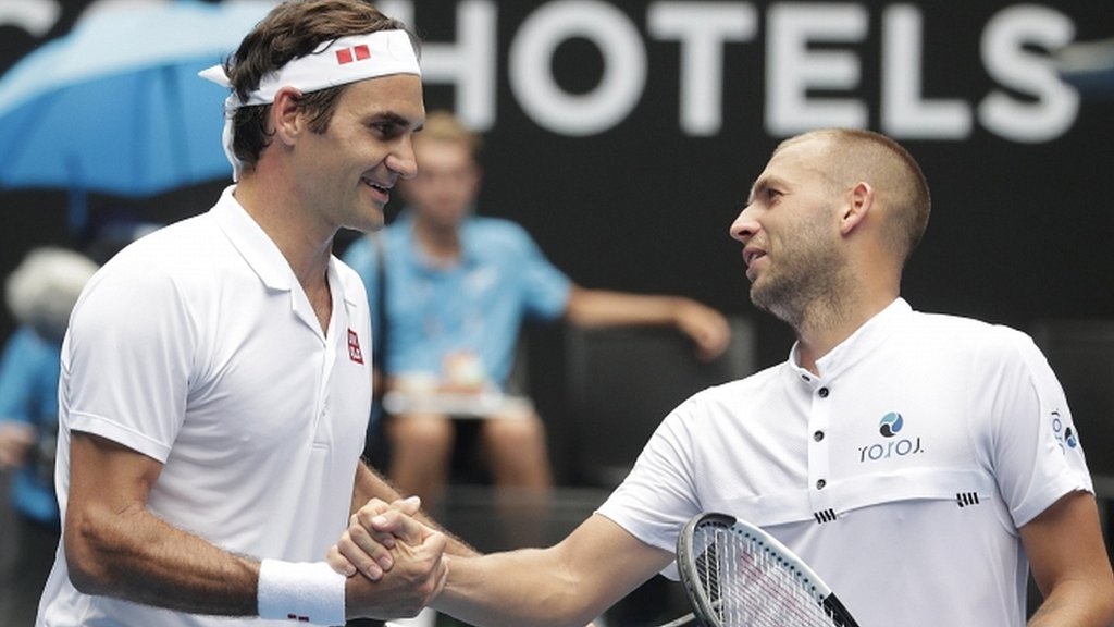 Dan Evans takes confidence from Roger Federer match at Australian Open