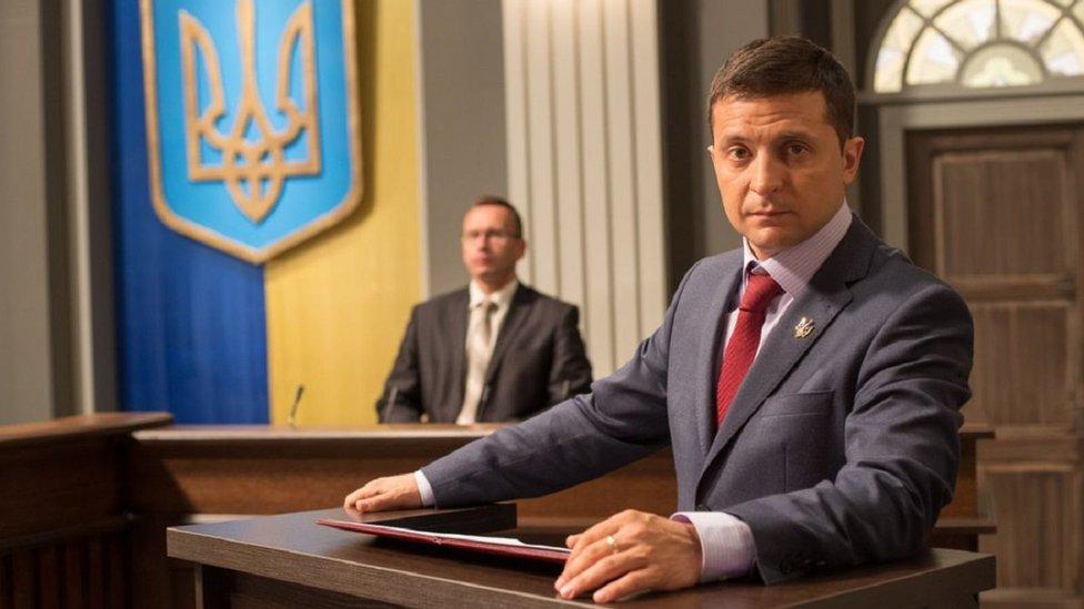 'Halkın Hizmetkârı' dizisindeki 'Devlet Başkanı Goloborodko' karakteri