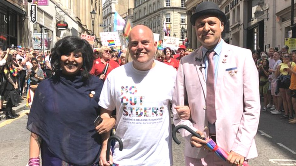 'No Outsiders' teacher leads Birmingham Pride parade