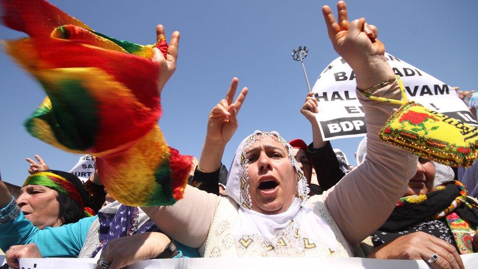 Turkish Kurdish protest in Istanbul (file photo)