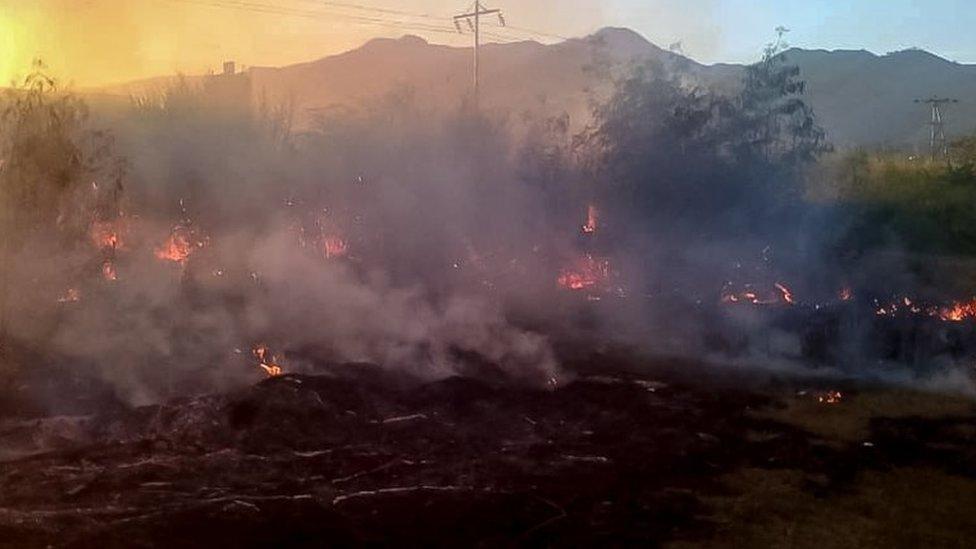Incendio en Cagua